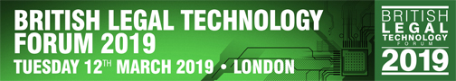 British Legal Technology Forum 2019 - A Legal IT event by Netlaw Media - signature banner